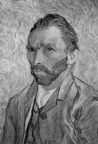 Van Gogh Self Portriat B/W