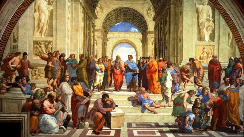 The Flossopher: Dental Ethics Blog picture of The Academy where Plato walks with Aristotle