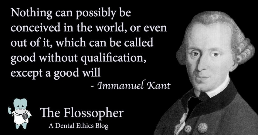 Nothing can possibly be conceived in the world, or even out of it, which can be called good without qualification, except a good will. Immanuel Kant.