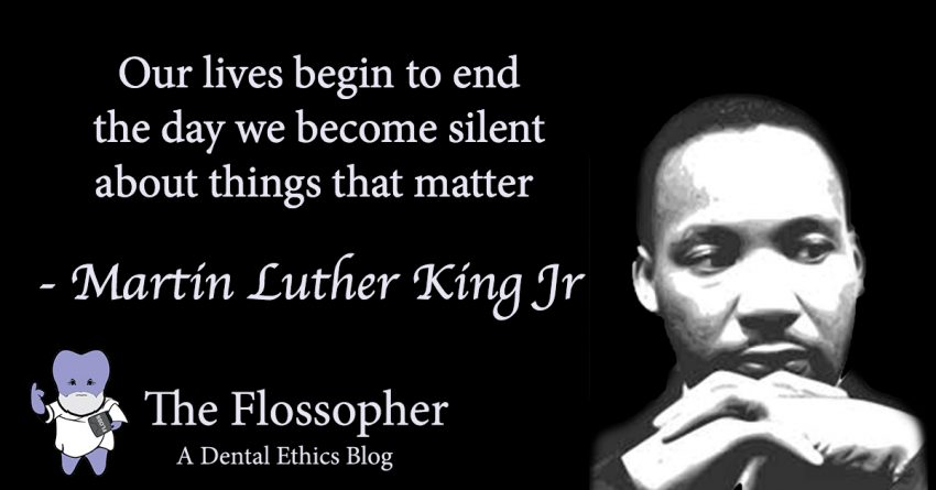 Our lives begin to end the day we become silent about the things that matter - MLK Jr